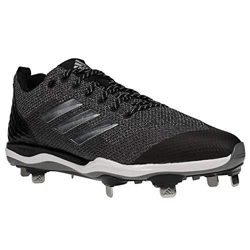adidas Men's Poweralley 5 Metal Baseball Cleats (Grey/Black, 11 D (M) US)