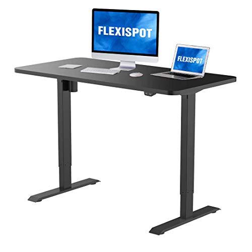 89cm convertitore da scrivania in piedi nero M2B Alzata di scrivania in piedi altezza regolabile FLEXISPOT 35 con un vassoio di tastiera