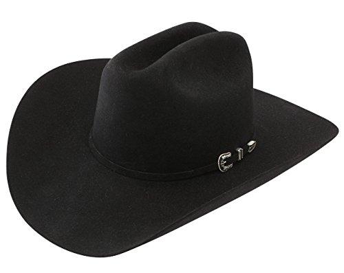 6 Stetson hombres X horizonte piel del sombrero de vaquero fieltro neg