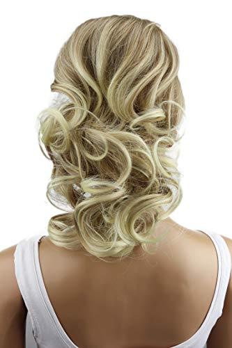 PRETTYSHOP 30cm Haarteil Zopf Pferdeschwanz Haarverlängerung Voluminös Gewellt Blond Mix PH210