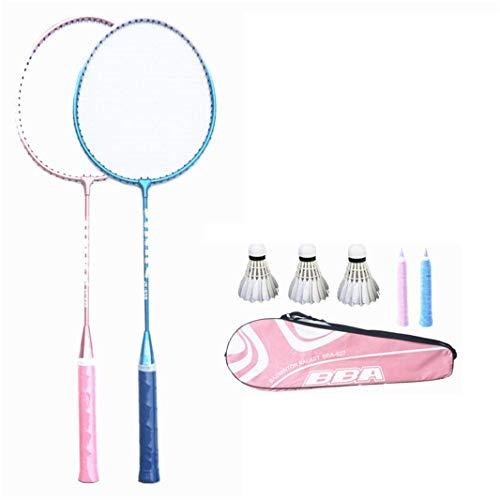 100{da7d5f1babb349016e455e227e971dae0ed56682eaf6d5fe4558c8daab226fb8} Vollcarbonfaser-Hochspannungs Schnur Badmintonschläger, Profi-Wettbewerb Design Welle Badmintonschläger, Leicht Graphite Einzelbadmintonschläger Badmintontasche. lalay ( Color : Blue Pink )