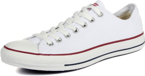 Converse Chuck Taylor All Star Low Top, Optical/White Canvas, 9 Women/7 Men