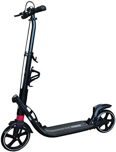 XLYYHZ Vespa f u r Adultos y Adolescentes, Adultos Ciudad Kick Scooter Altura Ajustable de Aluminio Plegable con Freno, llevando Adultos Pesadas 220 Libras de la Carga máxima, Negro
