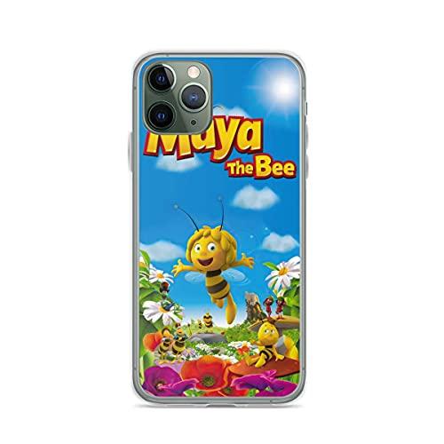 YICHIBAOEL Fundas para teléfono Pure Clear compatibles con iPhone 12/11 Pro MAX 12 Mini SE X/XS MAX XR 8 7 6 10s Plus Case-Maya The Bee