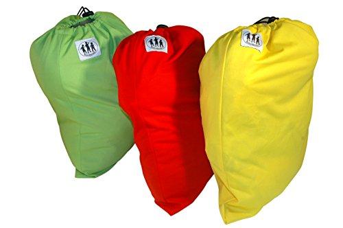 Trois couches Little Imps Chiffon humide bags-set de 3 couleurs vert, bleu, jaune ou rouge