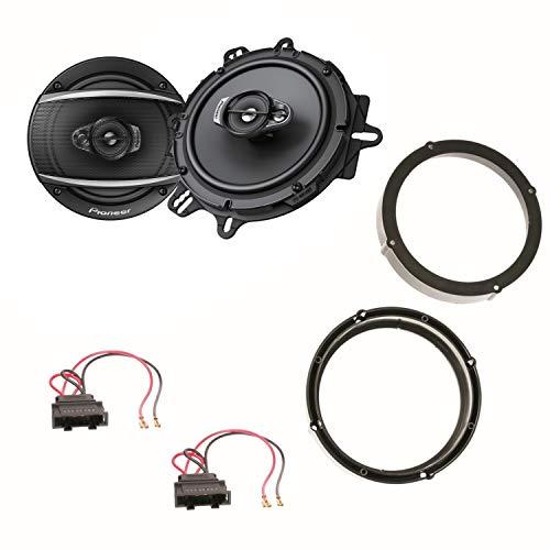 Pioneer TS-A1670F 16,5 cm 3 Wege Lautsprecher Einbauset für Up Seat MII Skoda Citigo