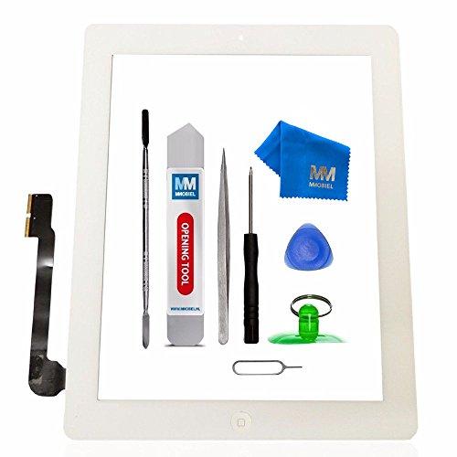 MMOBIEL Digitizer kompatibel mit iPad 3 (Weiss) 9.7 Inch 2012 Touchscreen Front Display Ersatz inkl Werkzeug
