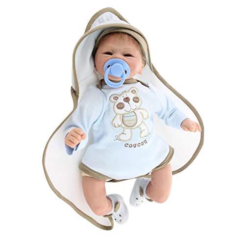 Honey MoMo Bambolotti, 42cm qualit¨¤ realistiche Bambole Fatte a Mano Bambole del Vinile del Vinile Simile a Bambini Che dormono accompagnano Il Giocattolo - Bianco