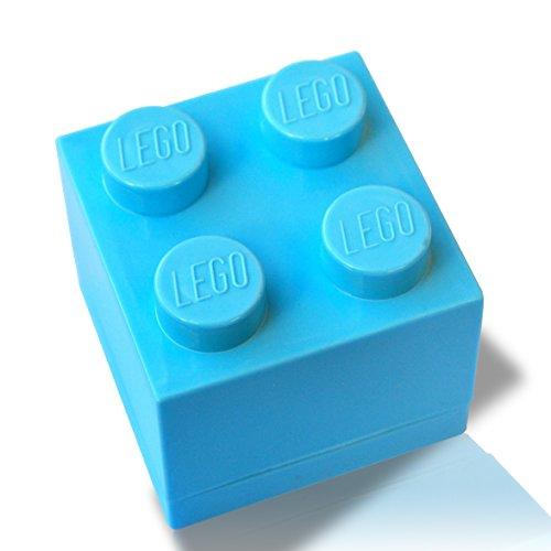 LEGO ® Mini-Box (hellblau) zur Schmuckaufbewahrung oder als Geschenk