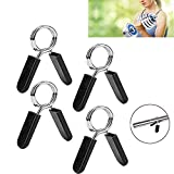 T.Face Spring Clip Collars, 1 Inch Barbell Clamps for Locking 1'' Diameter Bar Clip Clamps for Dumbbell Ordinary Barbell Spring Lock Collars for Weightlifting & Strength Training (2pair)