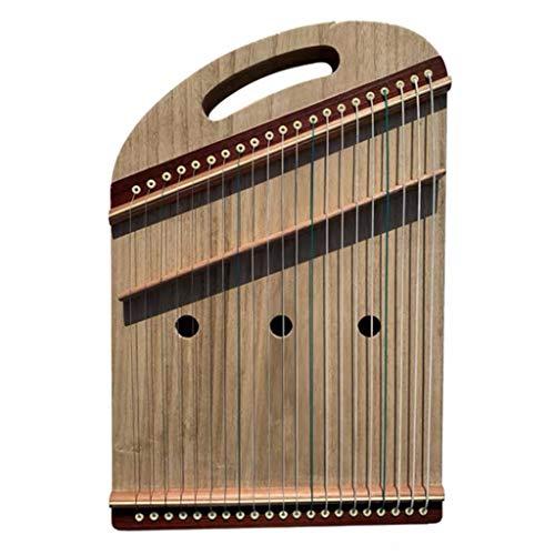 Mini Gu Zheng Finger Trainer, beweglicher Guzheng mit Rucksack/Full-Zubehör, 21 Streicher, Geeignet for Kinder, Erwachsene, Anfänger, Profi, 50 * 33 cm (Color : A, Size : 50 * 33 cm)