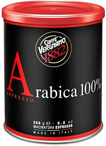 12 Lattine 250g Caffè Vergnano Macinato Espresso. 100% Arabica. Espresso Machines Ground Coffee.