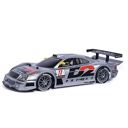 TAMIYA 47437 1:10 MB CLK-GTR 1997 (TT-01E), ferngesteuertes Auto, RC Fahrzeug, Modellbau, Bausatz zum Zusammenbauen, Hobby, Basteln