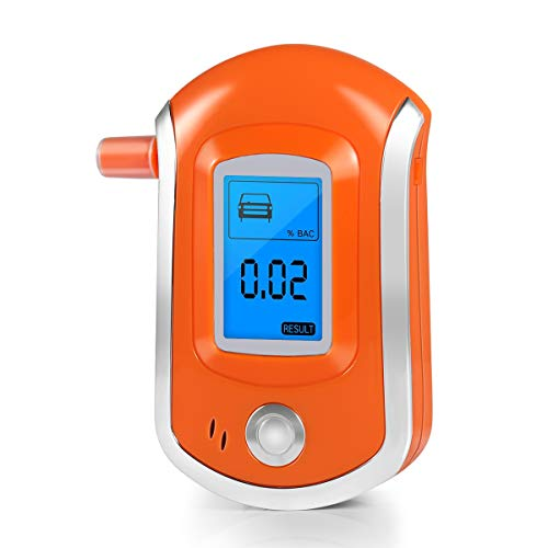 Discover Bargain Breathalyzer, New Upgraded Portable Breath Alcohol Tester LED Screen, Digital Batte...