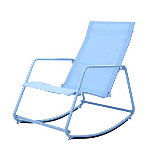 Fauteuil à Bascule Chaises Longues Fauteuil Dossier Fauteuil Lounge Chaise Pliante Fauteuil Pause Repas Canapé Loisirs 2 Couleurs (Couleur : B)