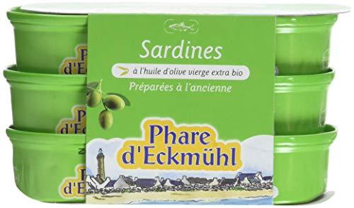 Phare dEckmül Sardines à lHuile Olive Bio 3 x 55 g