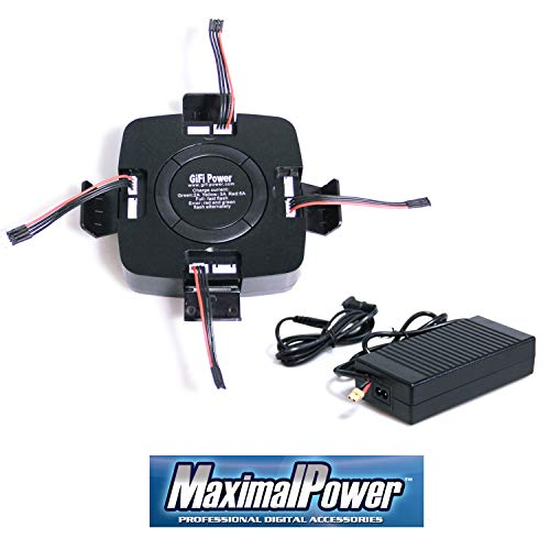 MaximalPower GIFI Power Fast Drone Battery or 4-in-1 Charger for Yuneec Typhoon Q500 4K H480 Typhoon G RC Drone (Charger Only)