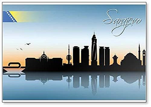 Sarajevo City Skyline – Klassischer Kühlschrankmagnet