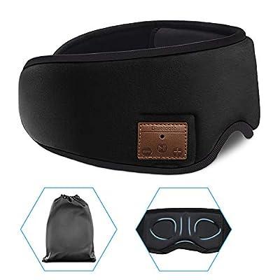 Sleep Headphones Wireless Bluetooth Eye Mask, 3D Sleep Mask Bluetooth 5.0 Wireless Eye Mask, Sleep Headphones Eye Mask with Ultra-Thin HD Stereo Speakers Perfect for Sleeping, Air Travel, Meditation