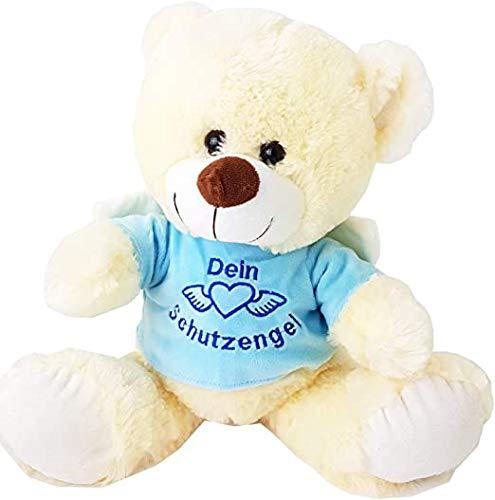STUWU Bärchen Dein Schutzengel 40 cm in hellblau oder rosa Plüsch Kuscheltier (Blau)