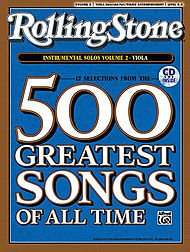 Alfred Selections from Rolling Stone Magazine's 500 Greatest Songs of All Time:Volume 2 Viola (Book and CD)