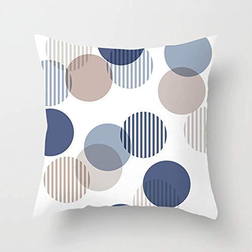 Funda de almohada SHUMU patrón geométrico piel de melocotón terciopelo super suave transpirable con cremallera oculta decoración del hogar sala de estar sofá oficina dormitorio 45x45cm