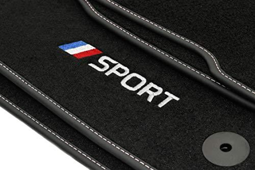 Motohobby Sport Velour Fußmatten Satz für Renault Captur I (2013-2019) - 4-teilig - Passgenau