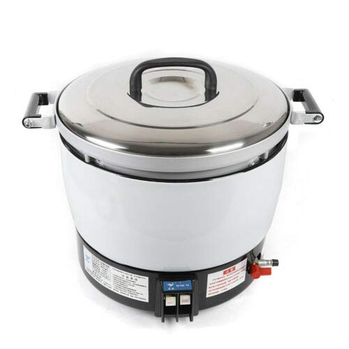 XiuPan 7L Commercial Natural Gas Rice Cooker Steamer Food Cooking Machine Natural Gas Rice Maker for Business Restaurants Commercial Max for 35 Persons with Rubber Tube