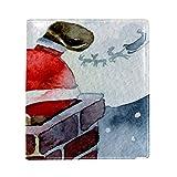 EZIOLY - Funda para libro de escalada de Santa Claus (se adapta a la mayoría de libros de texto con tapa dura de hasta 8.7' x 6.3', sin adhesivos, protector de libros escolares, lavable y reutilizable.