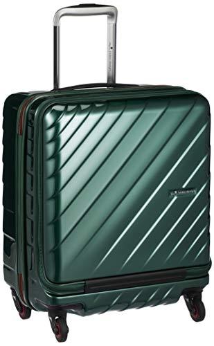 [ヒデオワカマツ] スーツケース ジッパー フロントオープン ウェーブII 機内持込最大容量 機内持ち込み可 85-76570 保証付 42L 50 cm 3.3kg グリーン