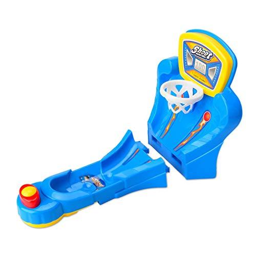 Nrew Mini Juego de Baloncesto de Escritorio, máquina de Tiro con expulsión de Dedos, Juguete Educativo, Azul