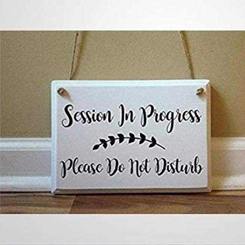 BYRON HOYLE Session in Progress Please Do Not Disturb Door Hanger Hanging Therapy Massage Counseling Therapist Wooden Sign Wood Plaque Wall Art Wall Hanger,1525 cm
