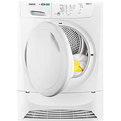 Zanussi ZDC8202P LINDO300 White 8kg Freestanding Condenser Tumble Dryer