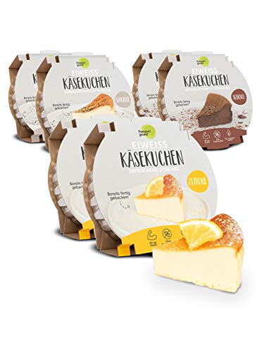 Pumperlgsund Kuchen Käsekuchen Fertig gebacken Low Carb 450 g (3 x Mix - Schoko, Vanille, Zitrone), 18,48 €/kg