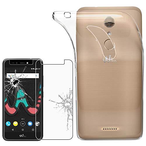 ebestStar - kompatibel mit Wiko Upulse Lite Hülle Handyhülle [Ultra Dünn], Durchsichtige Klar Flex Silikon Schutzhülle, Transparent + Panzerglas Schutzfolie [Phone: 144 x 72 x 8.4mm, 5.2'']