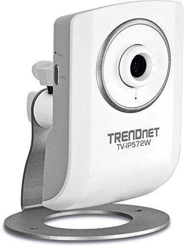 TRENDnet Megapixel Wireless N Network Surveillance Camera with 2-Way Audio, TV-IP572W (White)