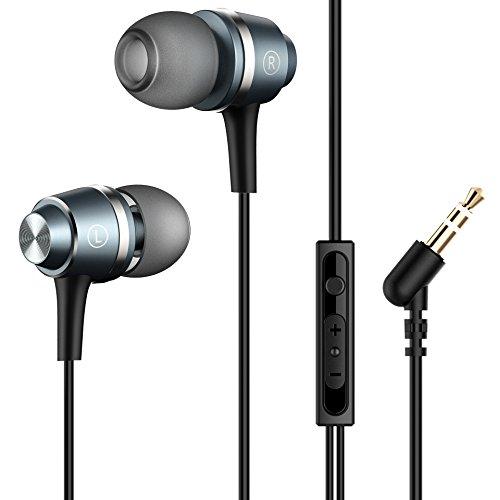 Mpow 026 Auriculares In-Ear con Cable con Micrófono y Control para Móvil, Smartphones BQ Aquaris, iPhone 6/6s, Samsung, Huawei, XiaoMi, PC, iPad, iPod MP3/MP4, negro