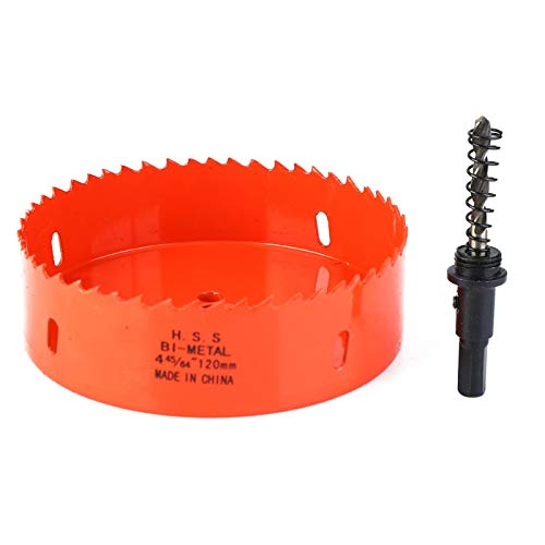 Aramox Hole Cutter Drill Bit, M42 Bimetal Hole Saw Metal Sheet Hole Knife Hole Saw Cutting Machine Cutting Bit(120mm)