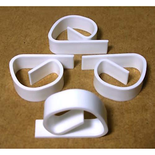 ka 4X Tischtuchklammer Weiss Tischdecken Klammern Tischtuchhalter Klammer Halter