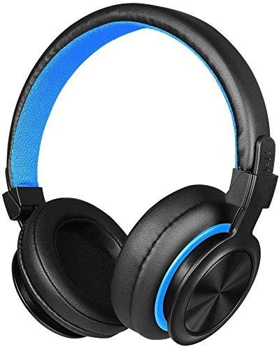 FHW Gaming headset, computer notebook headset 3.5mm bedrade Bass stereo headset gaming headset for PS4 Xbox One PC (zwart-blauw) koptelefoon
