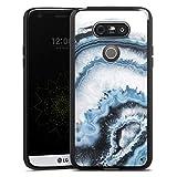 DeinDesign Silikon Hülle kompatibel mit LG G5 Hülle schwarz Handyhülle Edelstein Muster