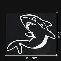 LGLGXR 15。2CMX12CM海洋生物は激しく危険なサメのデカール車のステッカービニールです (Color Name : Silver)