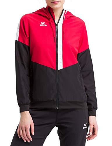 Erima Damen Squad Tracktop Trainingsjacke, rot/schwarz/weiß, 42