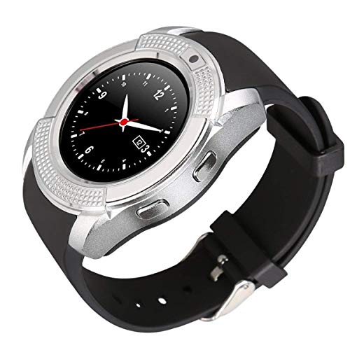 generic Smart Watch with SIM Card Support Compatible with All Mobile Phones for Boys and Girls -Silver
