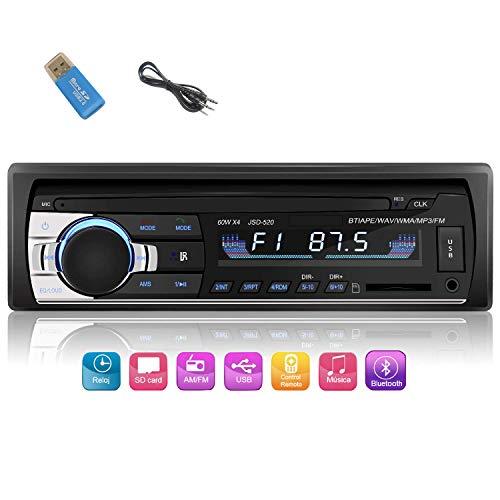 iWalker Autoradio de Coche, 60W×4 Manos Libres Radio Estéreo de Coche, Apoyo de Reproductor MP3, Llamadas Manos Libres, Función de Radio y de Archivo.