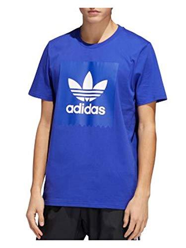 adidas Originals Herren T-Shirt mit Vogelmotiv, Schwarz - Blau - Klein