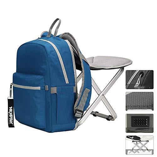 Yajun Rucksack Stuhl Klappstuhl Angelrucksack Wandern Sitz Rucksack Elastische Und Atmungsaktive Tasche Hohe Kapazität Bewegung Doppel Umhängetaschen,Blue