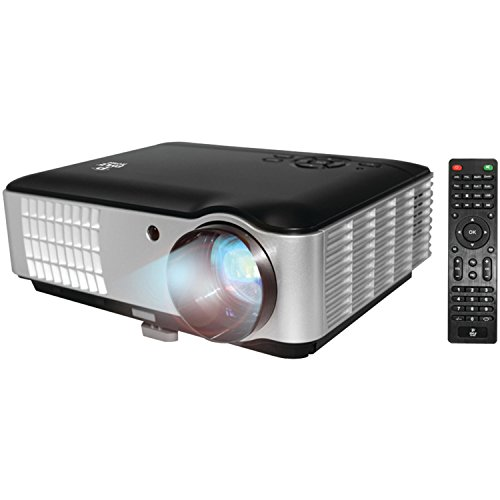 Full HD 1080p Video & Cinema Home Theater Projector - Built-in Stereo Speaker, LCD + LED Lamp, Keystone Adjust, Digital Multimedia, 2xHDMI, 2xUSB & VGA Inputs for TV PC Game Business Computer & Laptop