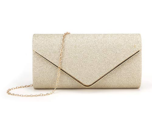 ★Made of high quality fabric, make way for your chic and imppeccable style.easy to match your shoes, dress,nail polish etc. ★Flap with magnetic snap closure.Color:Black/Silver/Gold/Champagne. ★Enough room for daily basics like eyeglass, wallet, smart...