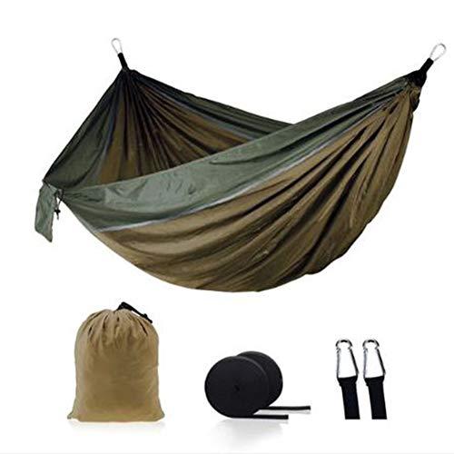 GFSD Hamaca de Camping con Bolsa de Compresión, Correas de Montaje, Mosquetones, Accesorios for Acampar Gear, Portátil (Color : Q)